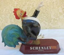 Rare Schenley Reserve Whiskey Metal Plastic Advertising Display Sunny Rooster