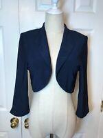 Jessica Howard Dark Blue Shrug Bolero size 12P NEW