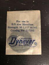 Hamilton Factory Mainspring for 6/0s Hamilton No. 717202 - Alloy