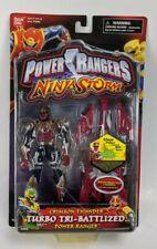 """2003 Power Rangers Ninja Storm 5"""" Crimson Thunder Turbo Tri-Battlize Ranger MOC"""