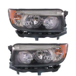 FITS SUBARU FORESTER 2006-2008 BLACK SPORT HEADLIGHTS HEAD LIGHTS LAMPS PAIR