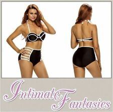 Unbranded Colour Block High Waist Bikini Swimwear for Women