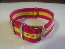 RED/Yellow SKUNK BOND 22mm G10 Military strap band fits ZULU Time Watch & others