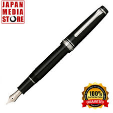 Sailor Fountain Pen Professional Gear Slim Silver Fine Print Black 11-1222-220