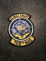 """Rare Vtg Cold War 80s 709th Military Airlift Squadron Patch 3"""" USAF Dover AFB"""