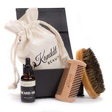 Kanddit Boar Beard Brush Comb Oil Kit For Men Grooming With Travel Bag Handmade