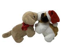 Kurt Adler Santas World Plush Kissing Dogs on Vibrating String Tiny Stuffed Toy
