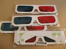 Lot of 4 ASRock 3D Red/Cyan Anaglyph Glasses for H67M-ITX/HT H67M-GE/HT 4pcs New