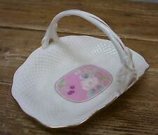 Mikasa Botanica Pink B2020 Small Basket Pink Fruit Flowers Fine Bone China