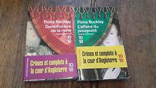 Lot de 2 livres de Fiona Buckley Dans l'ombre de la reine L'affaire du pourpoint