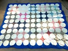 Unfinished Quilt Top Cotton Machine Sewn 66x82 approx
