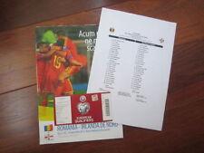Teams O-R Romania Football International Fixture Programmes