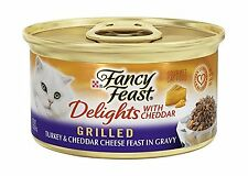 Purina Fancy Feast Delights with Cheddar Grilled Gourmet Wet Ca... Free Shipping