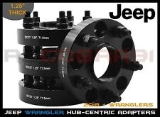 "2018 + New Model Jeep Wrangler JL 1.25"" Thick Black Hub Centric Spacers Adapters"
