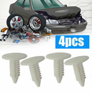 4pc 6-7mm Car hole Bumper Plugs Front License Plate Holes cover Plug White Parts