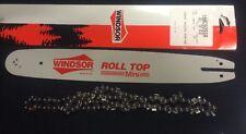 """16"""" WINDSOR Roll Top Mini Bar 3/8 .50G & Chain McCulloch chainsaws etc16MC50SSR"""