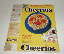 1955 CHEERIOS Cereal Box w/ Disneyland Park Lightup #9 JUNGLE CRUISE
