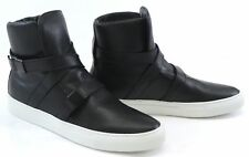 Cipher Parallax Classic Black Leather Buckle High Top Men's Trainers Sneakers