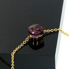 Bracelet Plaqué Or 18K Carré Quartz Violet Facetté Simple Class TRT2