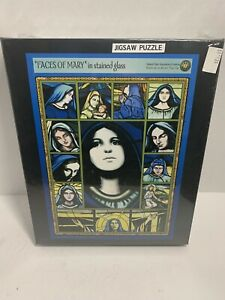 Jigsaw Puzzle Faces Of Mary Stained Glass New Sealed