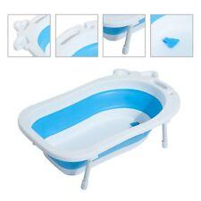 Homcom Bañera para Bebé plegable Portátil segura PP TPE 89x53.5x38cm 3 colores azul