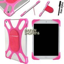 Tablet Shockproof Soft Silicone Stand Bumper Cover Case For Various HP + Stylus