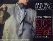 The Talking Heads 30x40 Stop Making Sense British Quad Movie Poster 1984