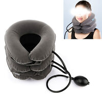 Medical home Air Inflatable Pillow Cervical Neck Traction Support Brace Device