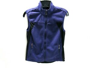 Nike Golf Fit Dry Womens Size S Vest Sleeveless Top Full Zip Purple Black