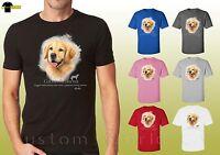 Golden Retriever Graphic Shirts Cute Dog golden Design Unisex T-Shirt (17407hl4)