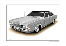 FORD  ZH  FAIRLANE  500  LIMITED EDITION  CAR DRAWING  PRINT  (8 CAR COLOURS)