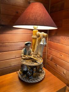 Apsit Bros of Calif RARE 1975 Vintage Nautical Ship Builder Lamp - Large 28 inch