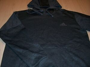 ADIDAS LONG SLEEVE GRAY/BLACK HOODIE MENS MEDIUM EXCELLENT CONDITION