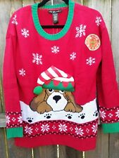 NEW NWT - LIGHT UP United States Sweaters Ugly Christmas brown  Dog Beatle lab