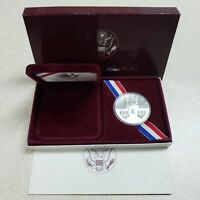 (1) 1984 S US XXIII Olympiad $1 Commemorative Proof Silver Dollar Coin w/COA&Box