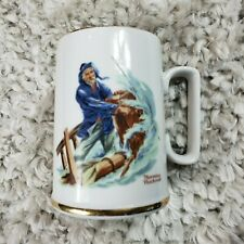 "Norman Rockwell Museum ""Braving the Storm"" Mug. Circa 1985. Excellent Condition"