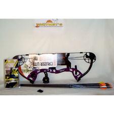 Fred Bear Archery Cruzer LITE Bow Purple RH Package w/ Arrows,Target Pts,Release