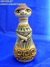 Jasba 400613 West German Art Pottery Woman Corked Bottle RARE