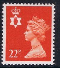 GB QEII Irlanda del Nord. SG ni55 22p Rosso-Arancio brillante PP. REGIONALE Machin