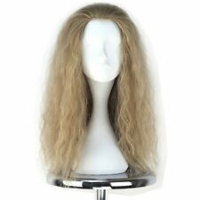 """High Temp Long & Curly Synthetic Wig for Men w/ Hair Net - Ash Blonde (21"""")"""