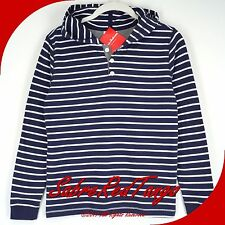 NWT HANNA ANDERSSON SUPERSOFT JERSEY STRIPED HOODIE TEE NAVY WHITE 100 4T 4