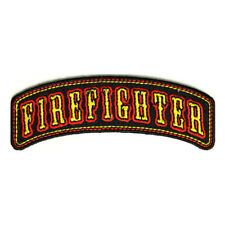 Embroidered Firefighter Rocker Sew or Iron on Patch Biker Patch