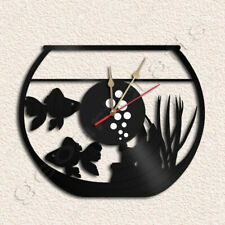 Fishbowl Wall Clock Vinyl Record Clock