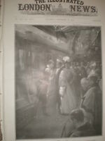 King George I of Greece and Queen Alexandra Windsor Station 1905 old print