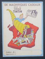 Protège cahier LES ALBUMS DU CHEQUE TINTIN par Hergé copybook