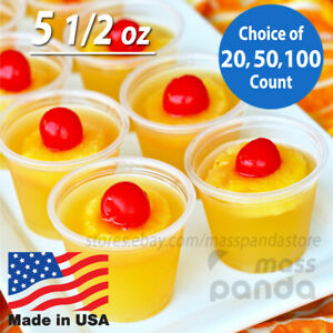 5.5 oz Dart Extra Large Clear Plastic Disposable Jello Shot Portion Cups, No BPA