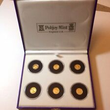 Harry Potter gold coin set Pobjoy Mint 2001 Gold Crowns Isle of Man Rowling