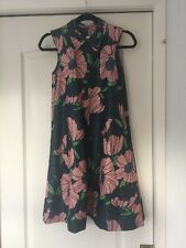 HM Women Floral Neck Collar Sleeveless Dress Size 2 Small NWT