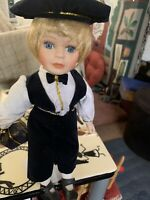 11 Inch Porcelain Doll  Could Be The Groom For The Bride Doll I Have Listed