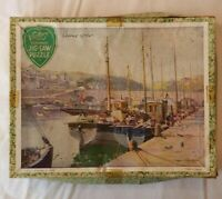 Vintage 1960s Victory Plywood Jigsaw Puzzle Evening At Lodge England Made in ENG